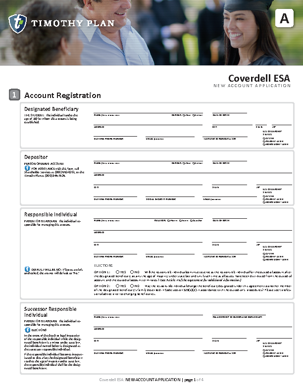 Coverdell New Account Application