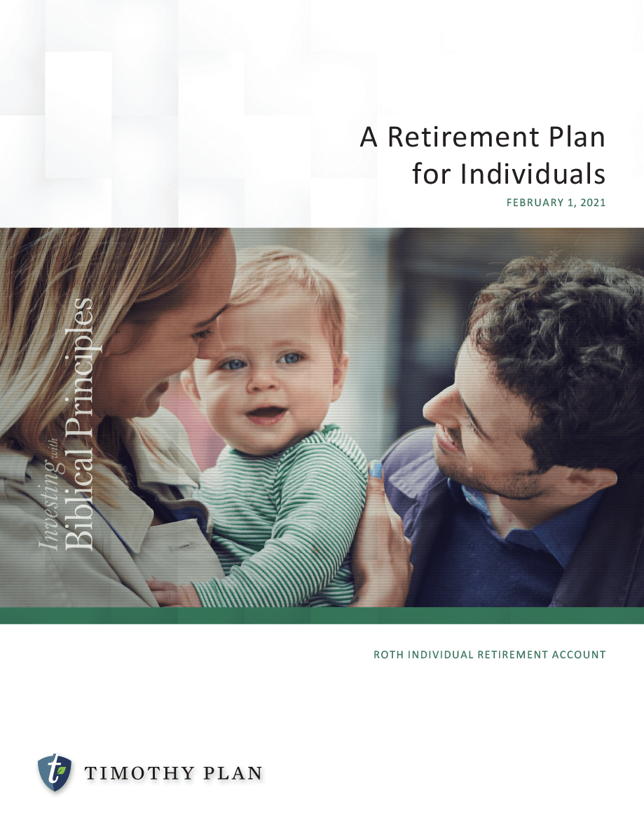 Roth IRA retirement plan for the individual