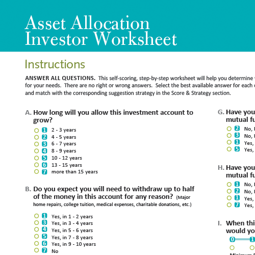 Download the Asset Allocation Investor Worksheet.